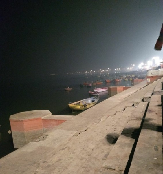 Good night from Varanasi